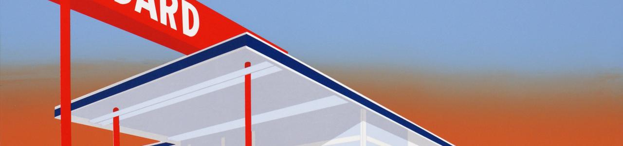 Ed Ruscha, Standard Station, 1966. UBS Art Collection ©Ed Ruscha. Courtesy of the artist and Gagosian.